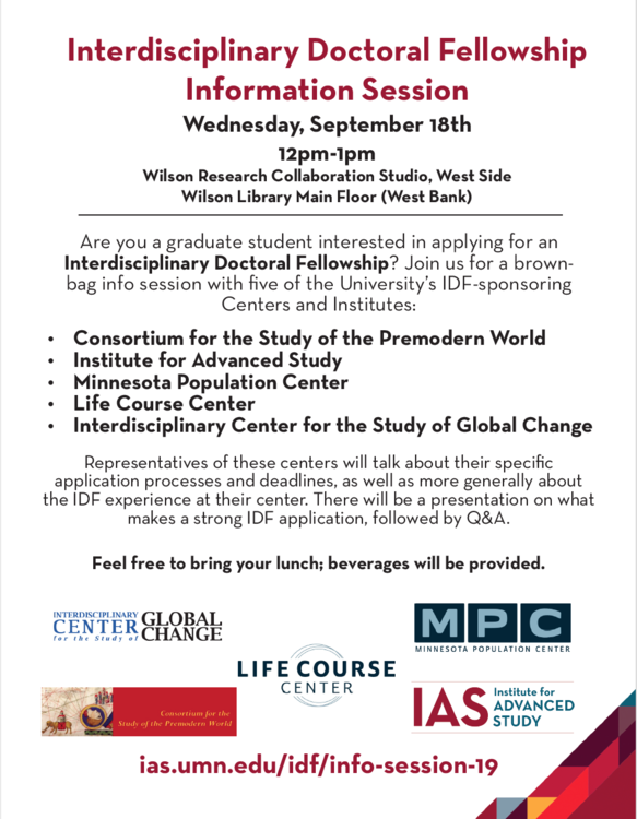 a text flyer advertising the IDF information session event; IMAGE TEXT IDENTICAL TO EVENT LISTING TEXT