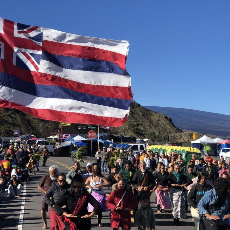 Religious Ceremony at Mauna Kea